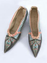 Regency-era shoes.
