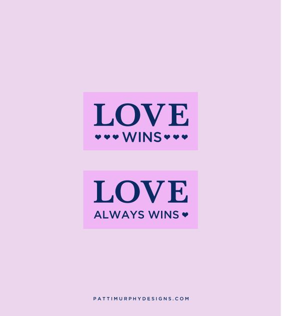 Graphic: Love wins, love always wins. -Mitch Albom