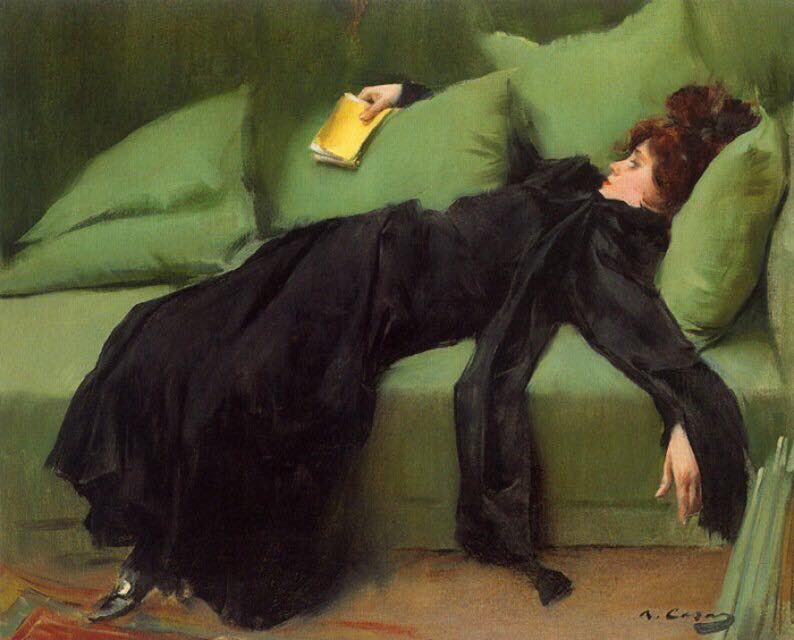 """Jove Decadent"" by Ramon Casas i Carbo."