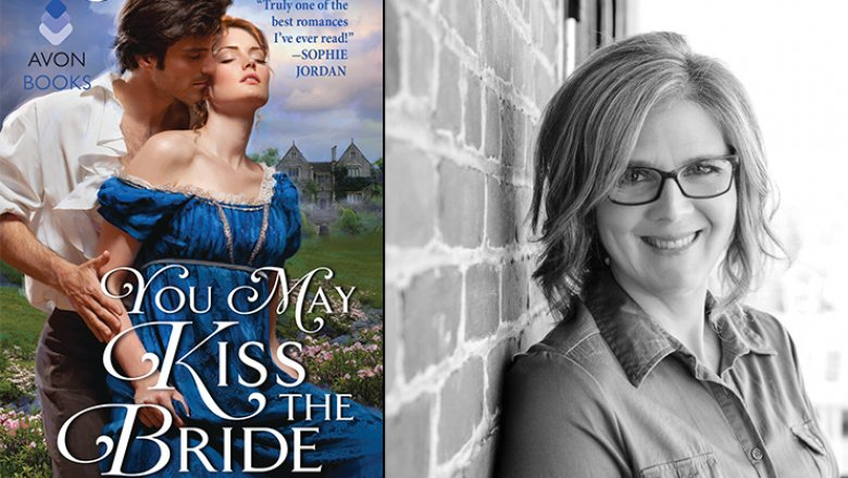 Photo: cover of You May Kiss the Bride (Avon Books, April 2017) and author Lisa Berne, via RT Reviews