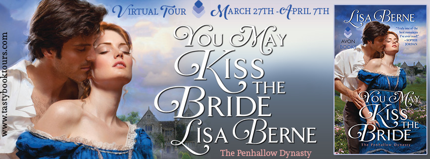 Graphic: Tasty Tours hosts a virtual tour for Lisa Berne and her debut book, You May Kiss the Bride (Avon Books, April 2017)