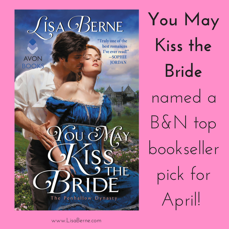 Graphic: You May Kiss the Bride (by Lisa Berne; published by Avon Books) named a B&N top bookseller pick for April 2017