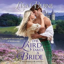Cover: audio edition: The Laird Takes a Bride by Lisa Berne (Avon Books)