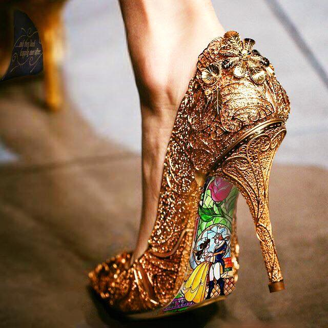 "Photo: Dazzling ""Beauty and the Beast"" shoe"