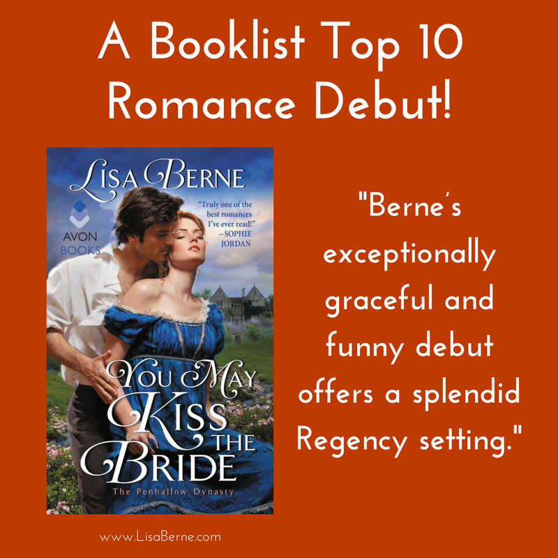Graphic: You May Kiss the Bride by Lisa Berne (Avon Books) a Booklist Top 10 Romance Debut
