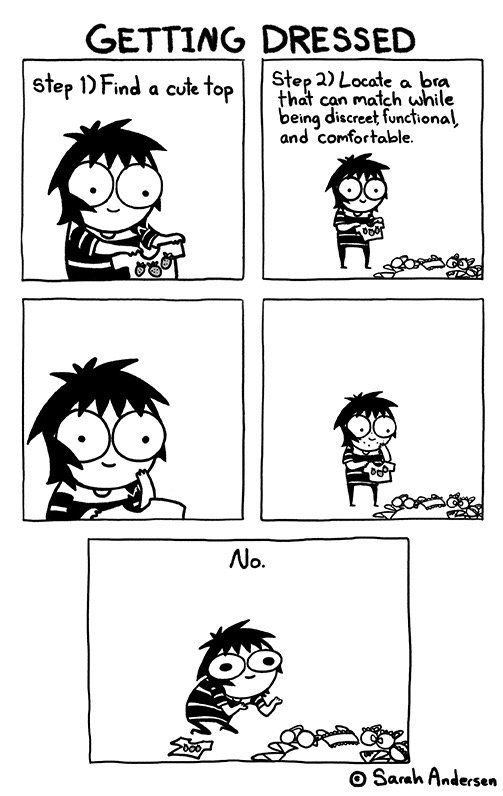 "Comic: ""Getting Dressed"" by Sarah Andersen"