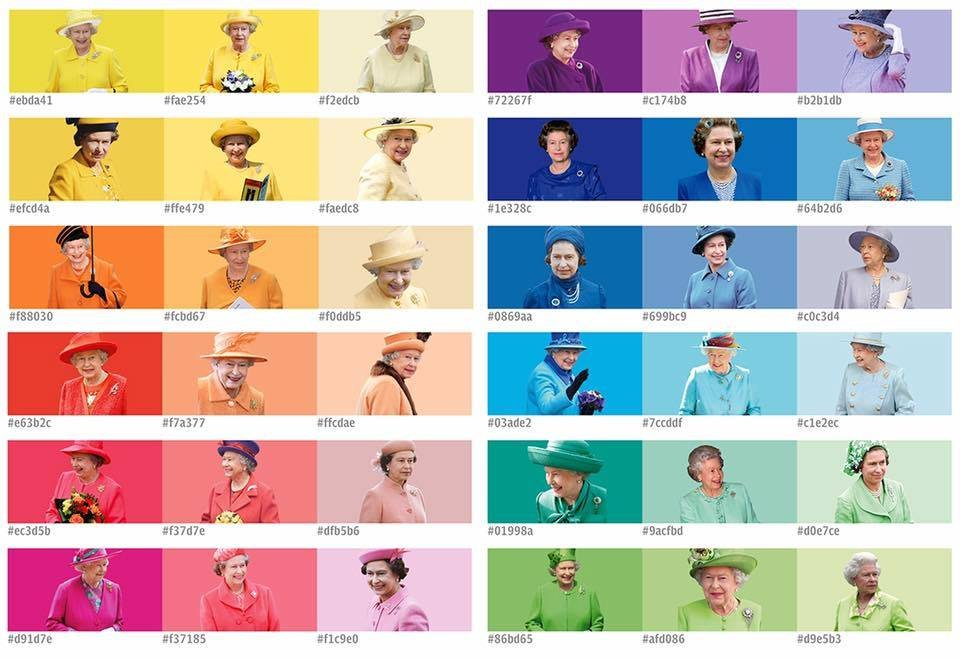 """Queen of Pantone,"" via @RaminNasibov on Twitter"