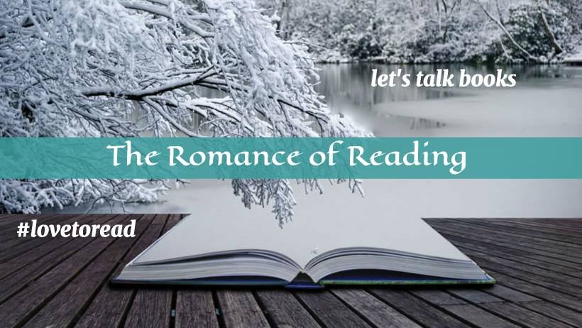 Graphic: The Romance of Reading Facebook group banner, cohosted by Bobbi Dumas