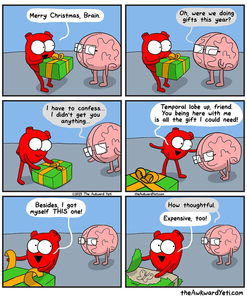 "Comic: ""Merry Christmas, Brain"" by the Awkward Yeti"
