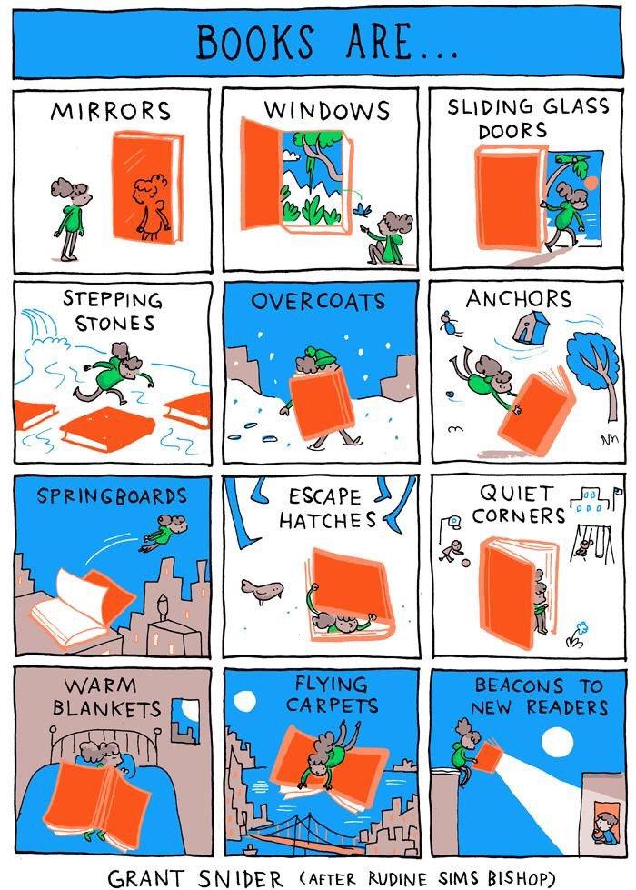 "Comic: ""Books are . . ."" by Grant Snider"
