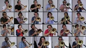 Image: Christopher Bill's 24 trombones playing Bohemian Rhapsody