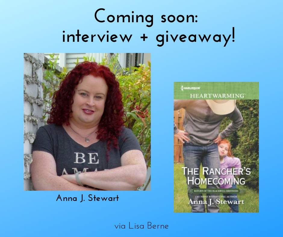 Graphic: Interview with Anna J. Stewart and a giveaway. Via Lisa Berne