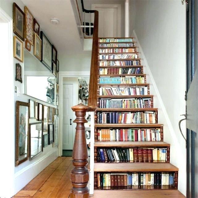 Photo: a staircase with built-in book storage