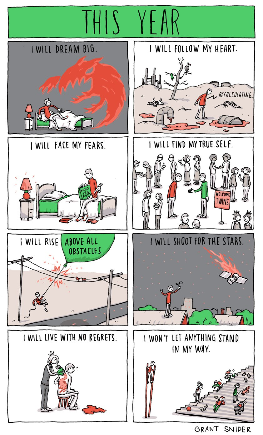 "Comic: ""This year"" by Grant Snider"