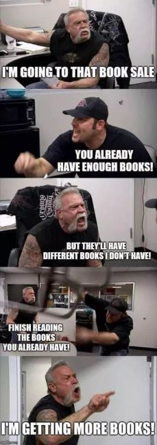 "Meme: ""I'm going to that book sale"""