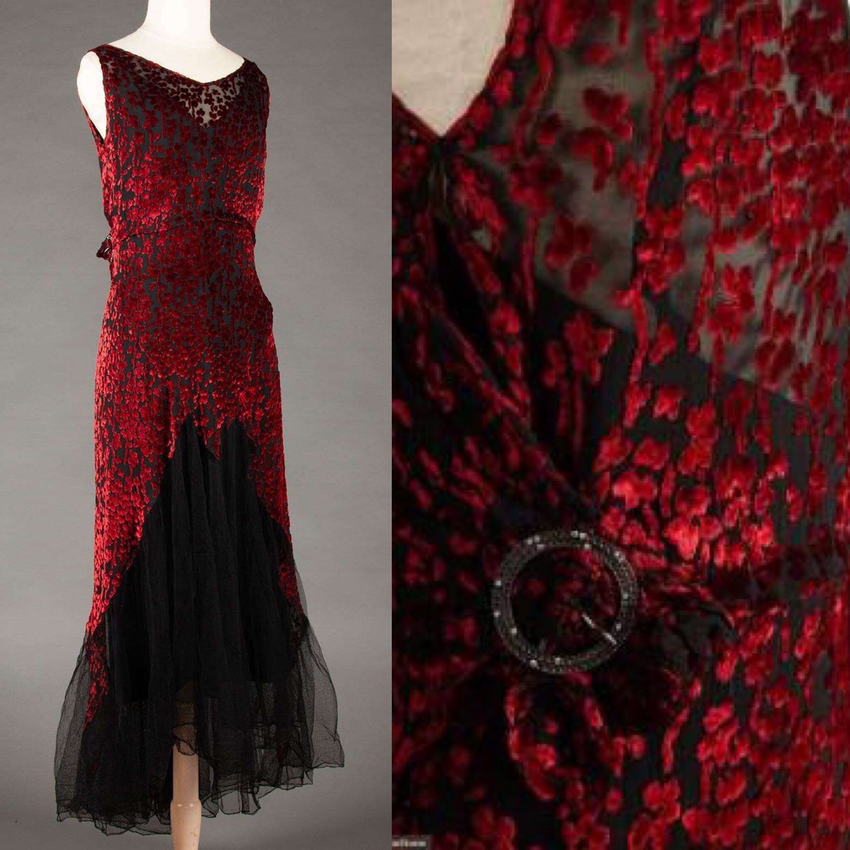 Photos: red gown circa 1930s