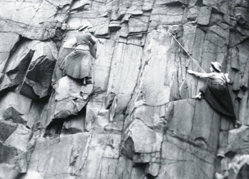 Photo: Lucy Smith and Pauline Ranken of the Ladies Scottish Climbing Club, 1908