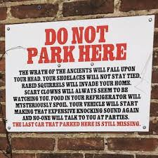 "Photo: ""DO NOT PARK HERE"""