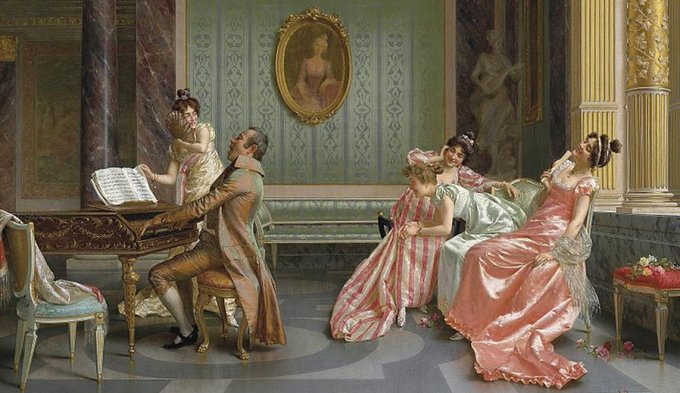 Image: a Regency-era painting depicting snark
