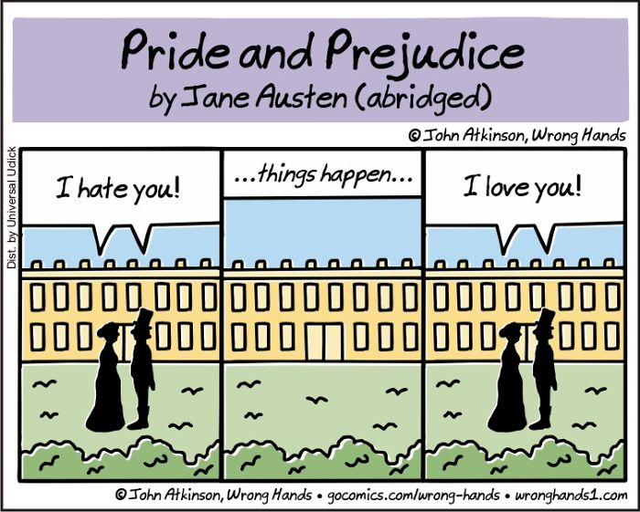 Comic: Pride and Prejudice abridged, by John Atkinson