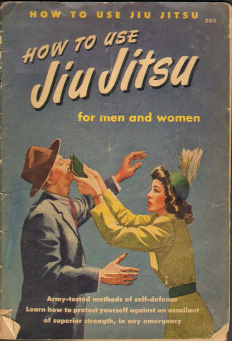"Vintage book cover: ""How To Use Jiu Jitsu"" via LisaBerne.com"