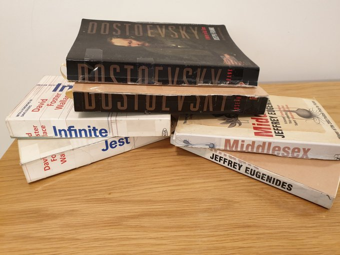 Photo: books cut in half