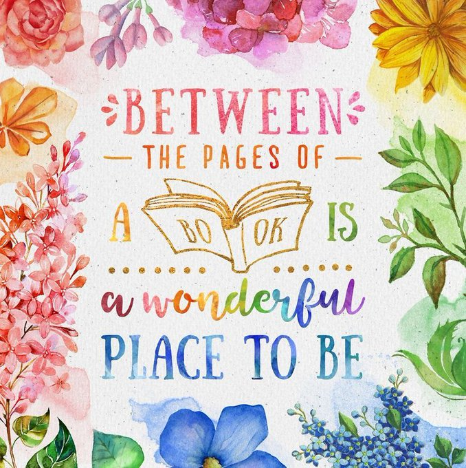 "Graphic: ""Between the pages of a book is a wonderful place to be,"" via LisaBerne.com"