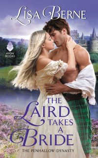 Cover for The Laird Takes a Bride by Lisa Berne (Avon Books)