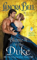 cover of BLAME IT ON THE DUKE by Lenora Bell (Avon/HarperCollins)