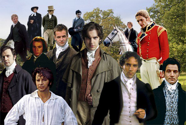 A collage showing various actors who have portrayed Jane Austen's male characters in recent years. Via the Jane Austen Centre on Twitter.