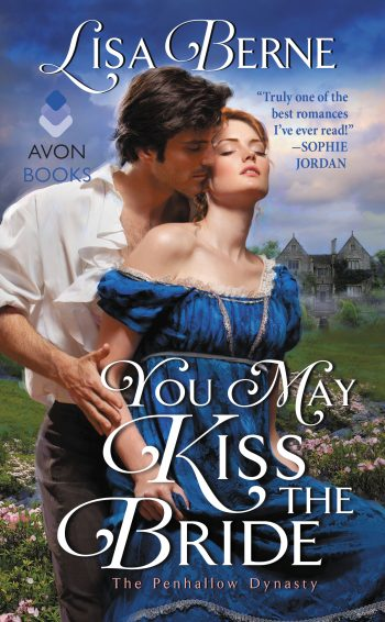 Cover for YOU MAY KISS THE BRIDE by Lisa Berne (Avon/HarperCollins)