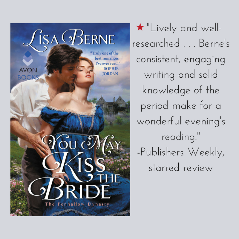 Graphic: An excerpt from the Publishers Weekly starred review for You May Kiss the Bride by Lisa Berne (Avon Books, March 2017)
