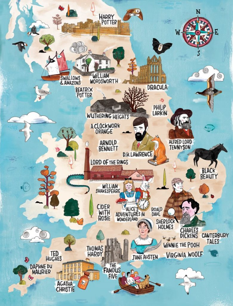 A literary map of England, via VisitEngland.com