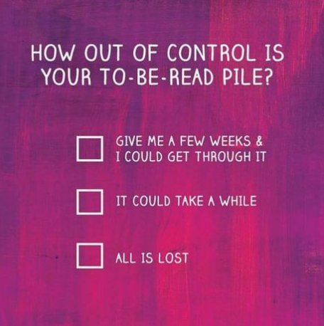 Graphic: How out of control is your to-be-read pile?