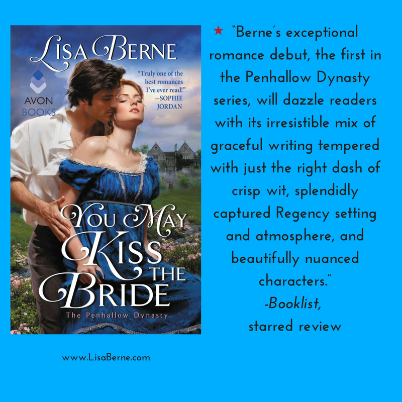 Graphic: Booklist's starred review for Lisa Berne's You May Kiss the Bride (Avon Books, April 2017)