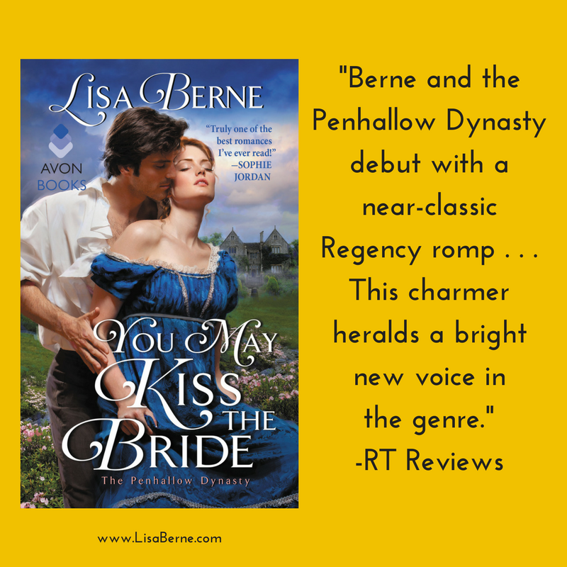 Graphic: Praise for Lisa Berne's You May Kiss the Bride (Avon Books) from RT Reviews