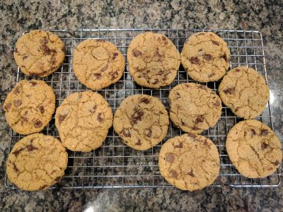 Photo: Lisa Berne's recent batch of chocolate-chip cookies