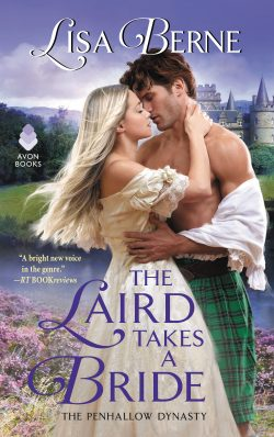The cover for The Laird Takes a Bride by Lisa Berne (Avon Books)