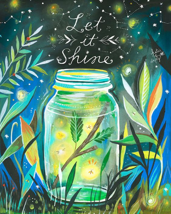 """Let It Shine"": an illustration by Katie Daisy"