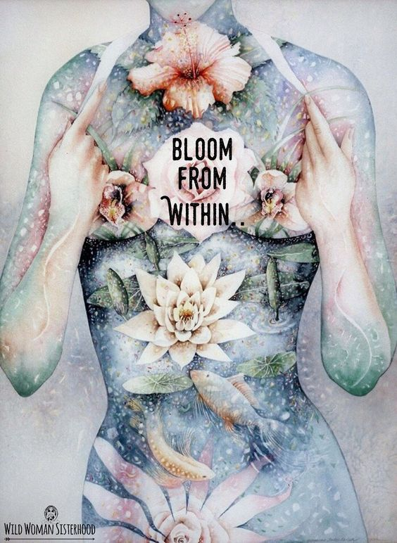 "Illustration: ""Bloom from within"" by Wild Woman Sisterhood"