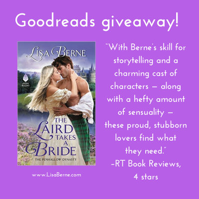 Graphic: Goodreads giveaway! The Laird Takes a Bride (Avon Books) by Lisa Berne