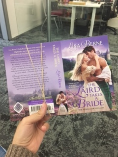 Photograph: cover flats for The Laird Takes a Bride by Lisa Berne (Avon Books)