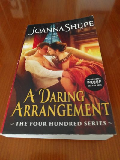 Image: cover of A Daring Arrangment by Joanna Shupe (Avon Books)