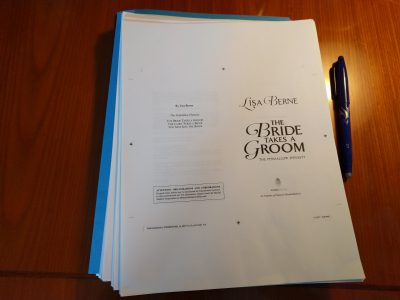 Photo: galleys for The Bride Takes a Groom by Lisa Berne (Avon Books)