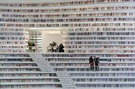 Photo: Tianjin Binhai Library, China