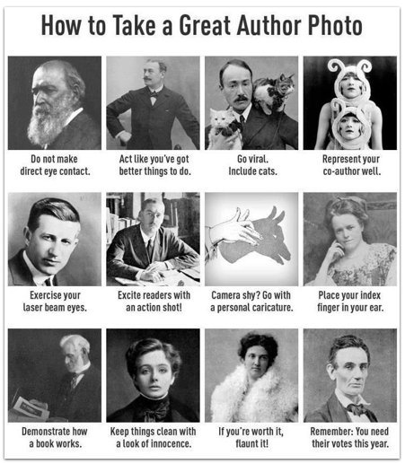 """Graphic: """"How to take a great author photo"""""""