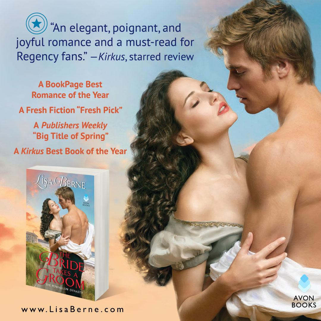 Graphic: The Bride Takes a Groom by Lisa Berne (Avon Books)