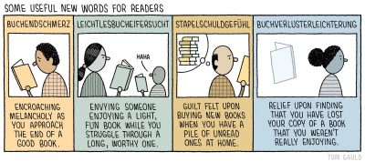 "Comic: ""Some New Words for Readers"" by Tom Gauld"