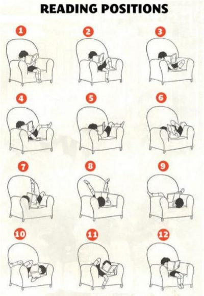 """Comic: """"Reading positions"""""""