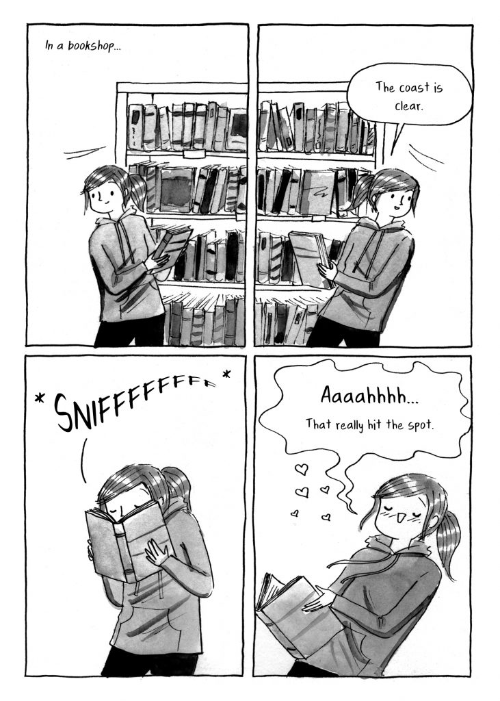 "Comic: ""In a bookshop"" by Debbie Tung"